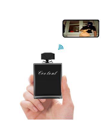 Frasco de perfume Micro câmera escondida com alertas de detecção de movimento Wi-Fi / Cloud service autonomia até 6 meses