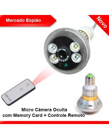 Micro Câmera Oculta com Memory Card + Controle Remoto