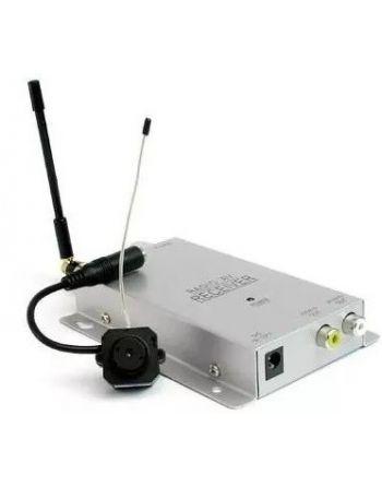 KIT Micro Câmera Espiã sem fio com receptor wireless