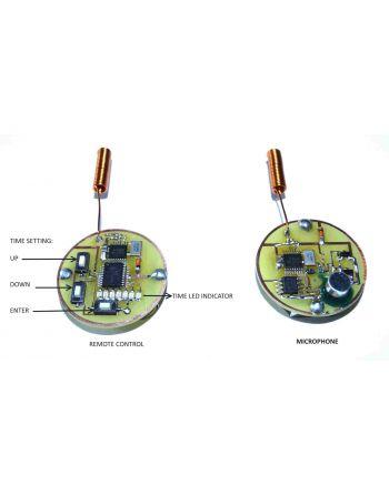 Microfone escuta UHF espionagem com controle remoto 200 metros wireless