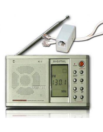 KIT RECEPTOR VHF DIGITAL E ADAPTADOR ESCUTA GRAMPO TELEFÔNICO