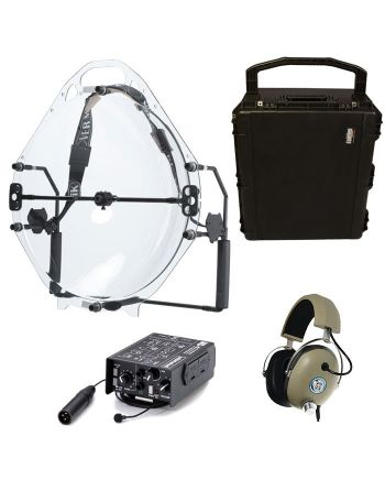 Kit Tático Microfone Parabólica Profissional 200M MIK