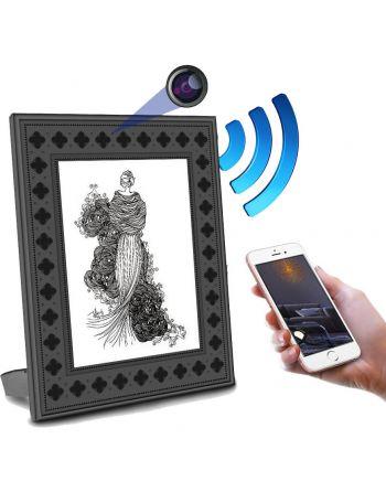 Porta Retrato Câmera escondida com visão noturna, bateria de 1 ano e visualização remota WiFi