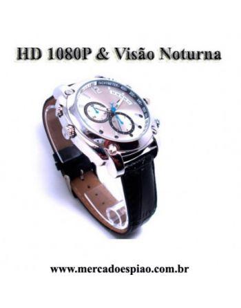 Relógio Espião com visão noturna HD1080P