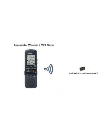 Reprodutor de áudio Wireless com Ponto eletrônico UHF