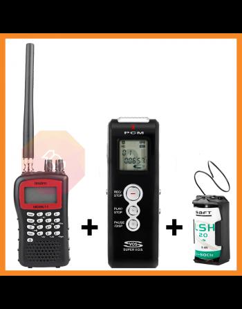 Kit de vigilância Wireless para espionagem Escuta, Scanner e gravador de voz