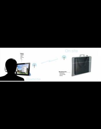 Sistema audioscope de captura complexa e gravação de áudio remoto