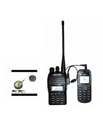 Kit transmissão áudio híbrido UHF monitoramento via celular sem limites de distância
