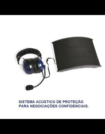 Sistema acústico de proteção para negociações confidenciais