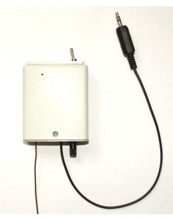 Transmissor Áudio UHF propagação até 50 metros para ponto eletrônico ouvido RF