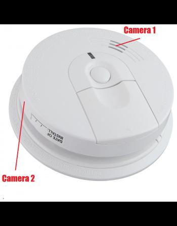 Câmera escondida no detector de fumaça DUAL Câmera remota WiFi