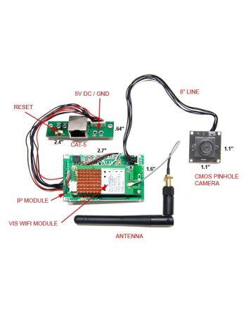 Módulo Wifi e Kit Micro Câmera