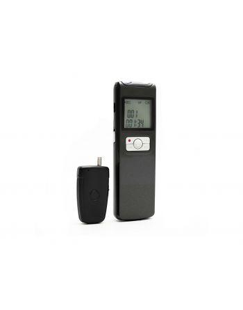 Gravador de voz portátil com microfone Wireless
