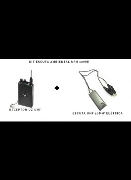 KIT Escuta ambiental UHF elétrica e Receptor