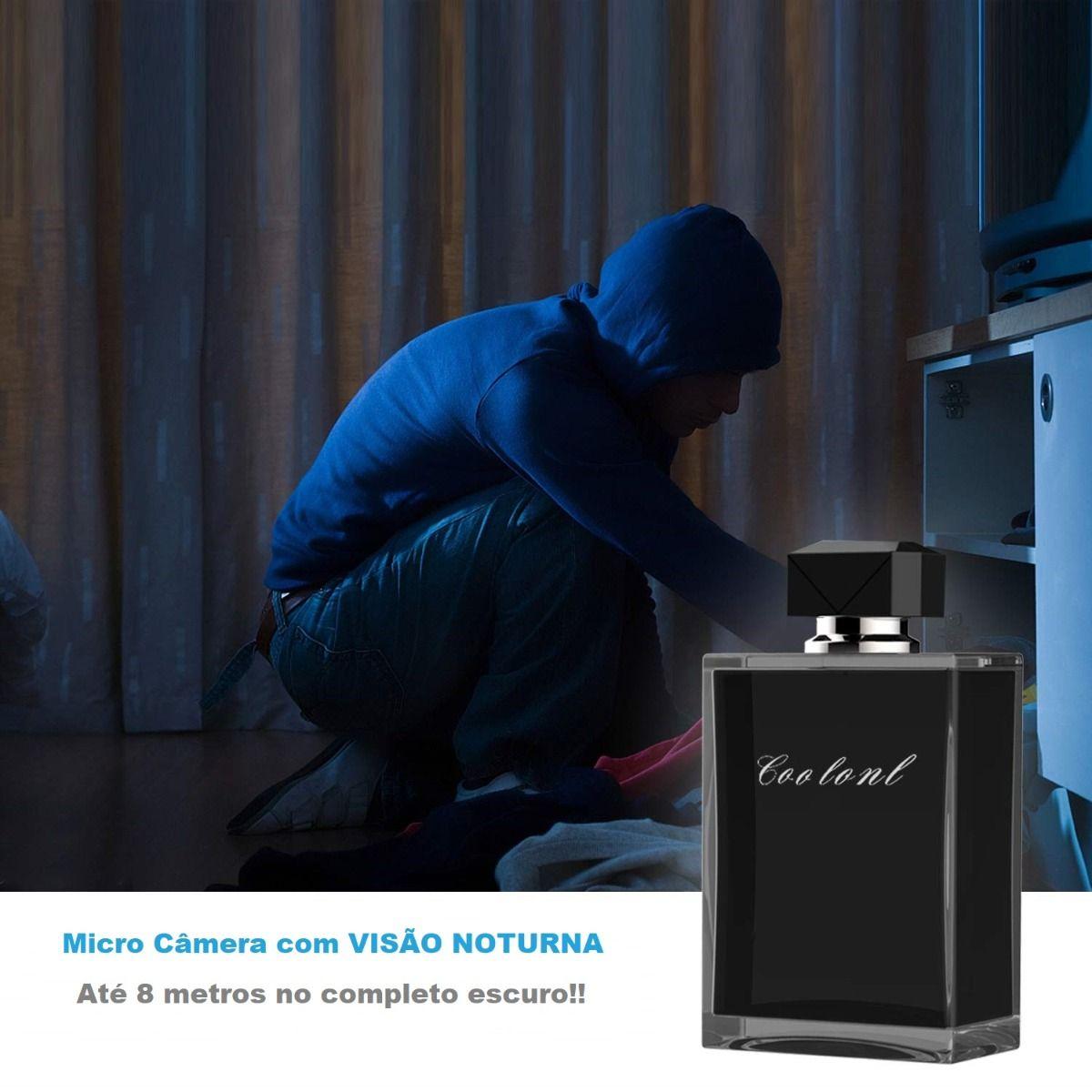 micro camera pote de perfume