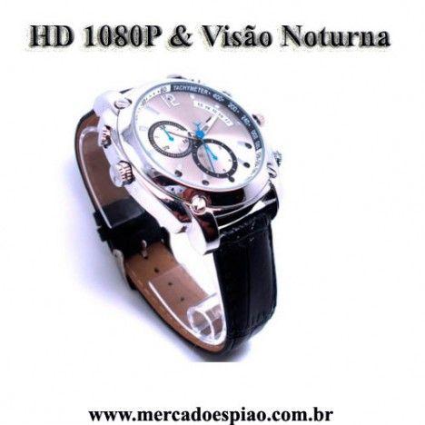 a2629a221db Relógio Espião com visão noturna HD1080P