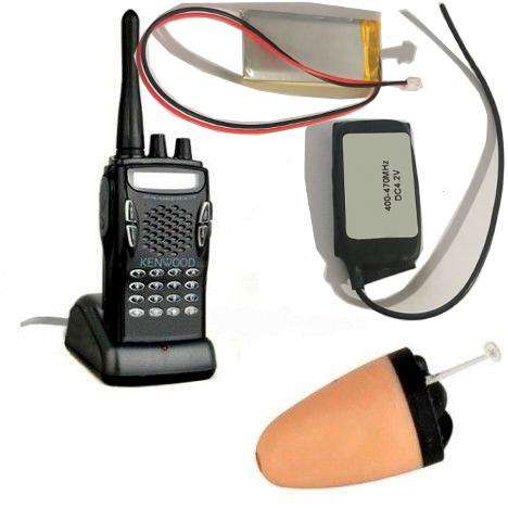 Ponto eletronico ouvido UHF placa receptora UHF